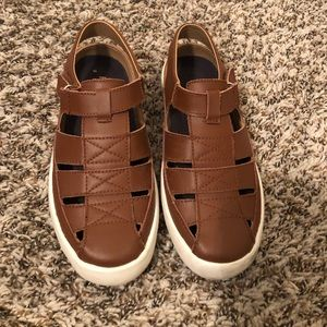Boys Leather Fisherman Sandals Size